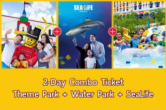 2-Day Combo E-Ticket (Theme Park + Water Park + SeaLife)
