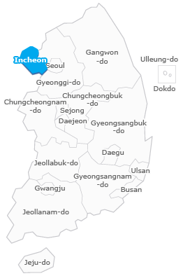 Incheon map